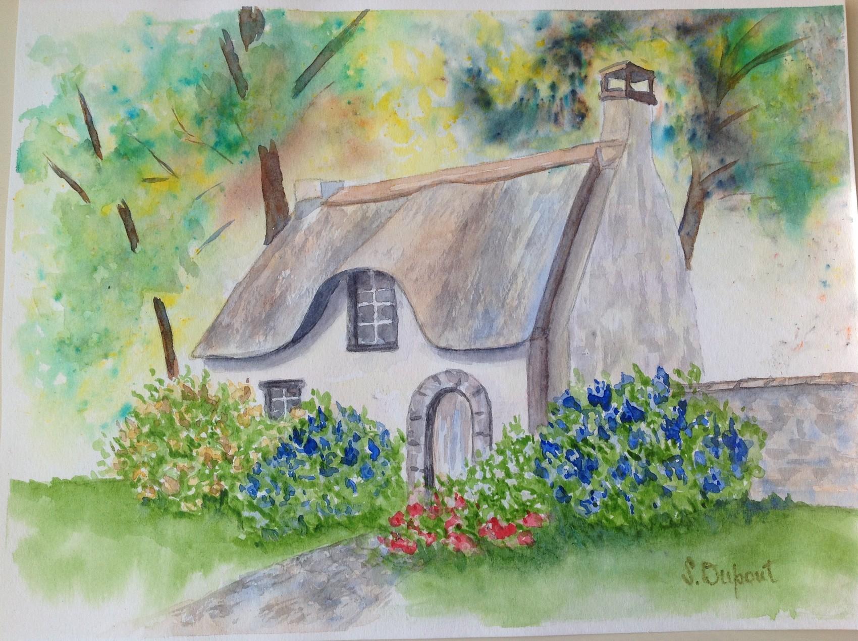 Peinture maison de campagne for Carrelage maison de campagne