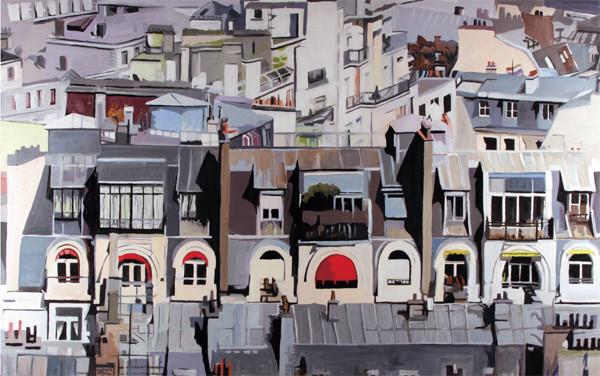 Peinture les toits de paris - Visite des toits de paris ...