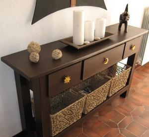 Table console chocolat tout en carton