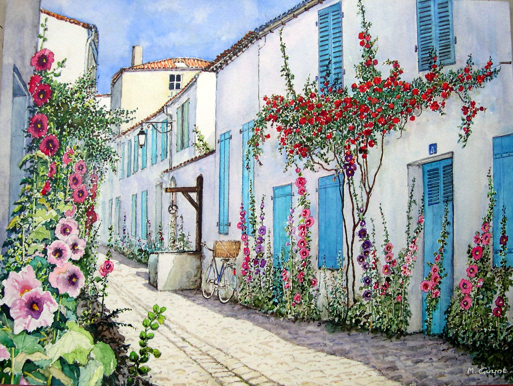 Village de Charente maritime.