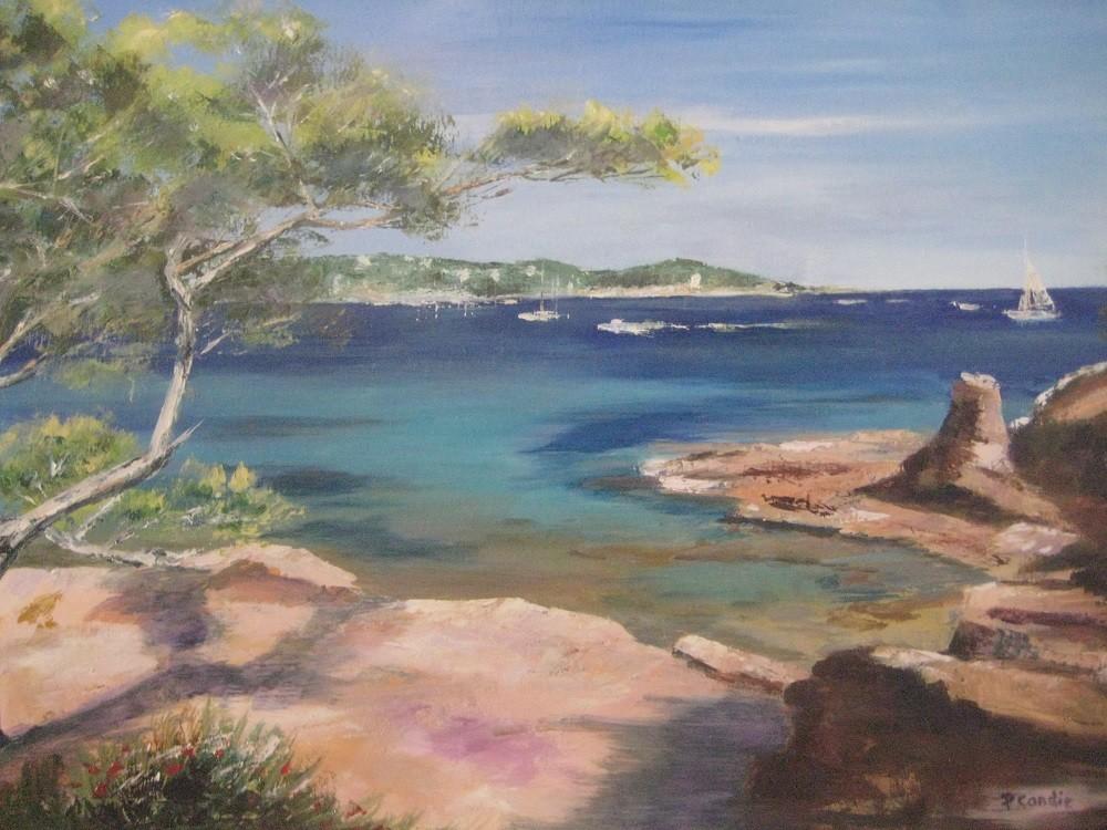 Peinture crique méditerranéenne