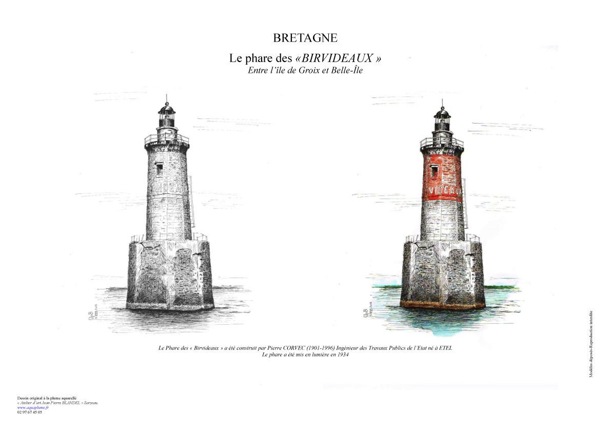 Entre Groix et Belle-Ile - Bouée phare des Birvideaux