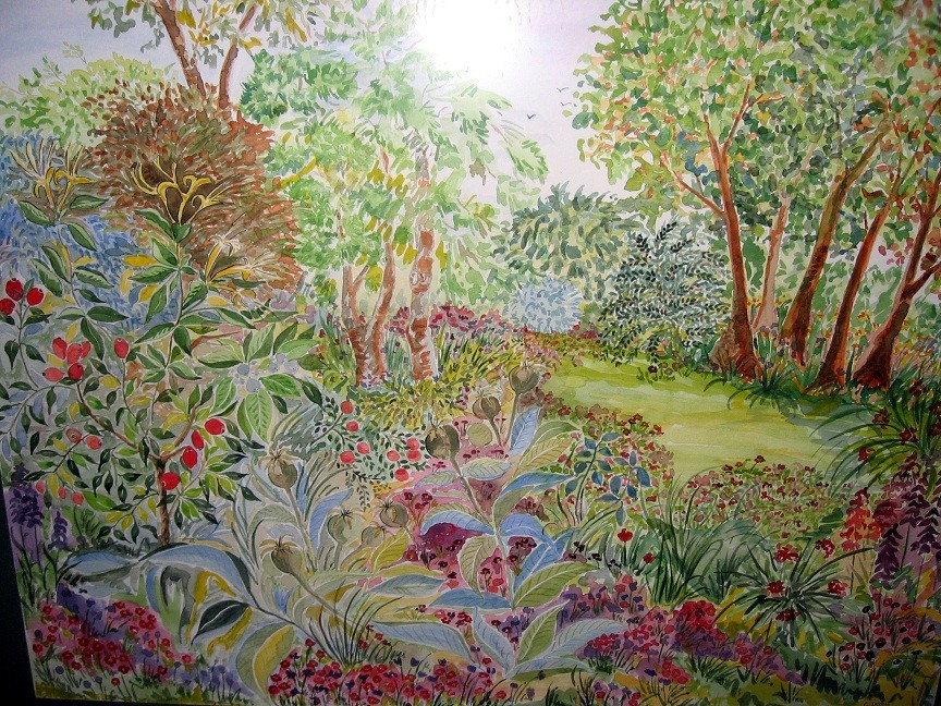 Peinture le jardin d 39 eden for Jardin d eden meyzieu