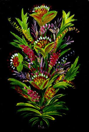 Peinture fleurs des iles - Fleurs des iles grasse ...