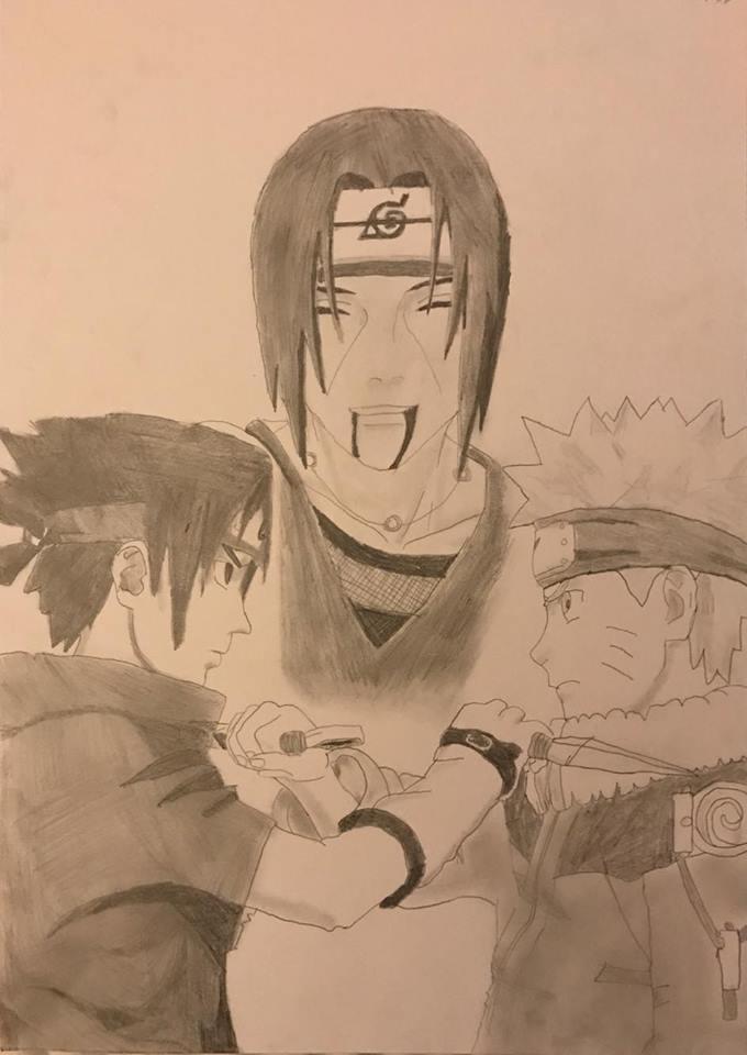 Dessin Naruto Vs Sasuke