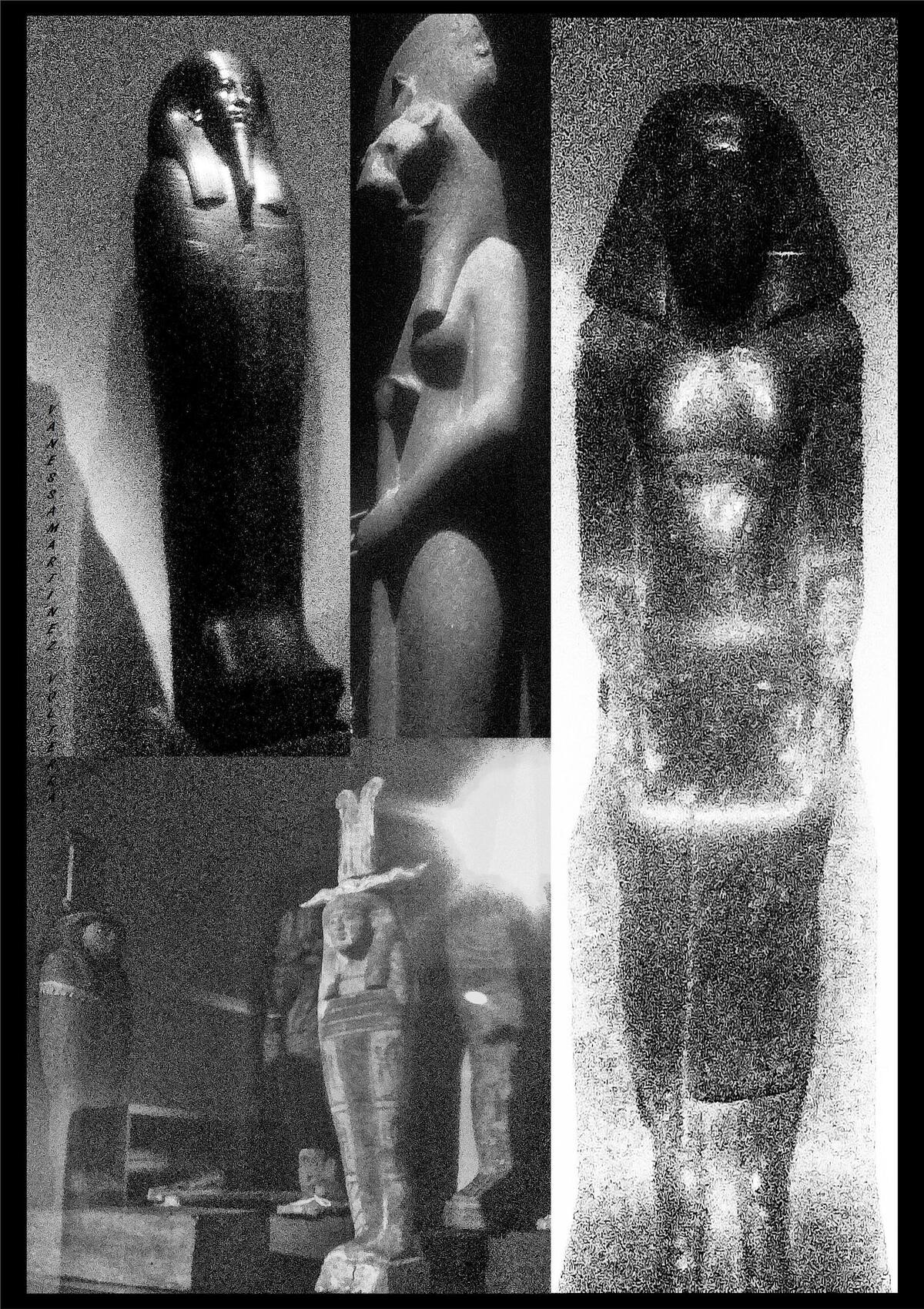 """""""Composition avec mes photos des oeuvres  du musée égyptien de Turin""""  de Vanessa Martinez Volterra"""