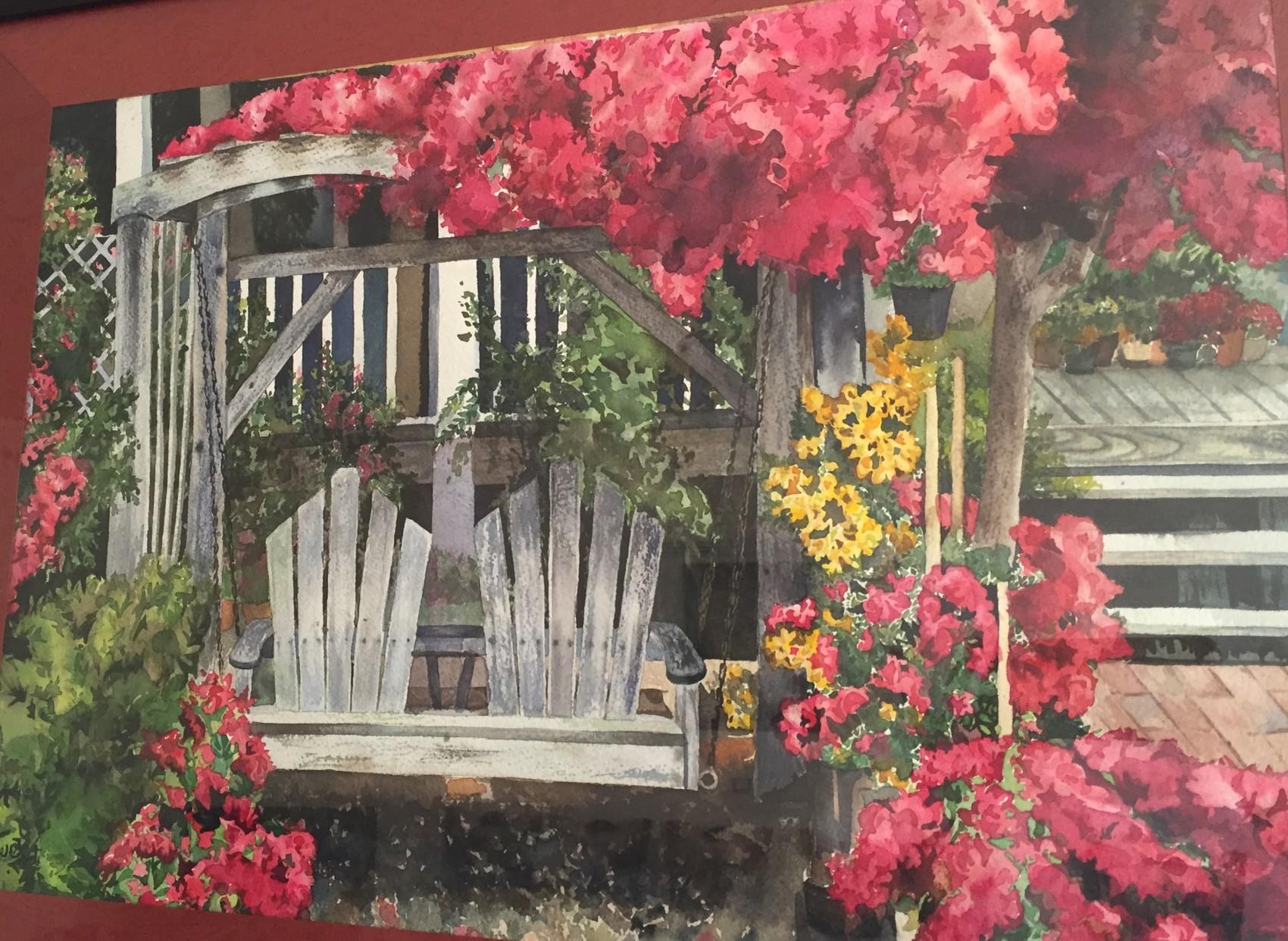 Aquarelle, le jardin