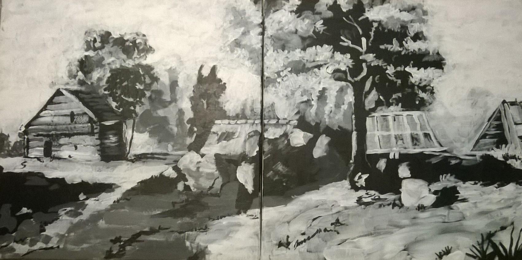 village noir et blanc