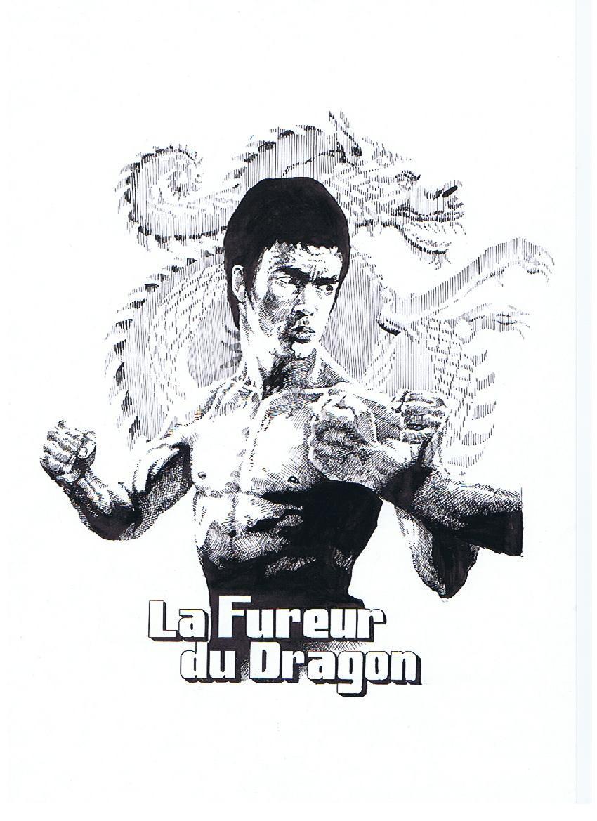 Dessin Bruce Lee