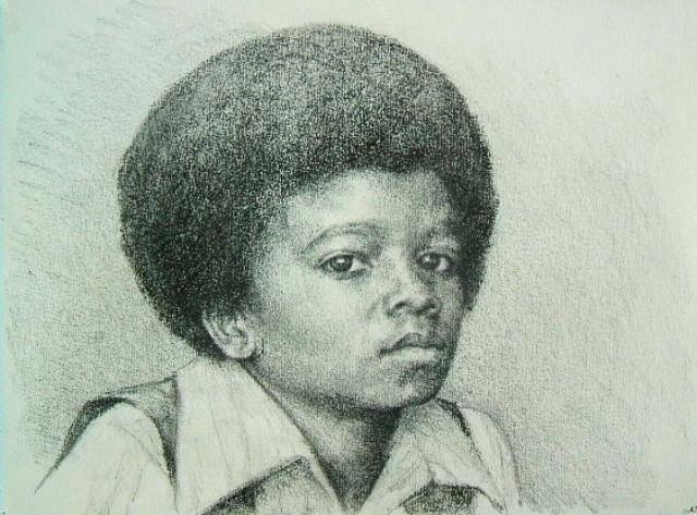 Dessin portrait de michael jackson enfant - Dessin de michael jackson ...