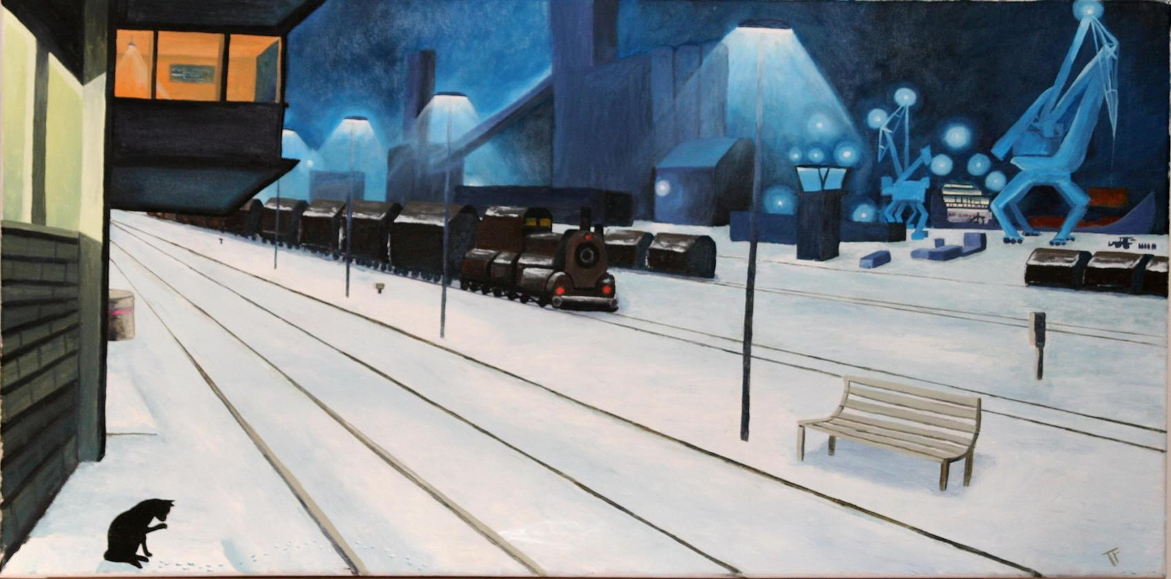 la neige et le train reviennent à Lorient