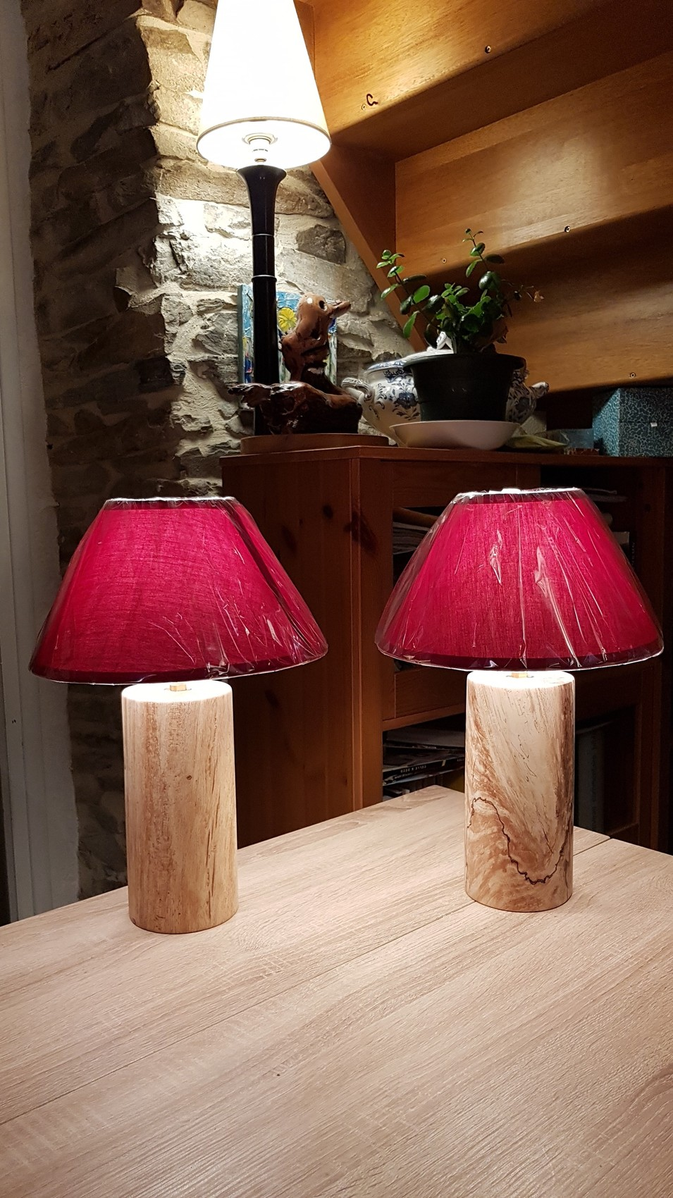 Chevet Hêtre Sculpture En Fusé Lampes De pUMVzS