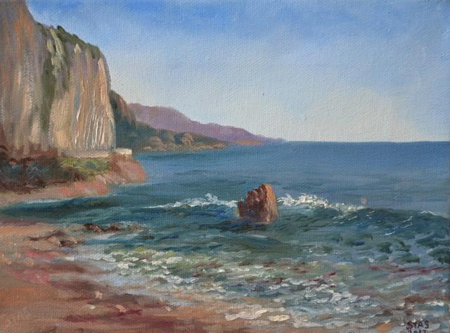 Peinture plage de petit afrique - Tableaux mer et plage ...