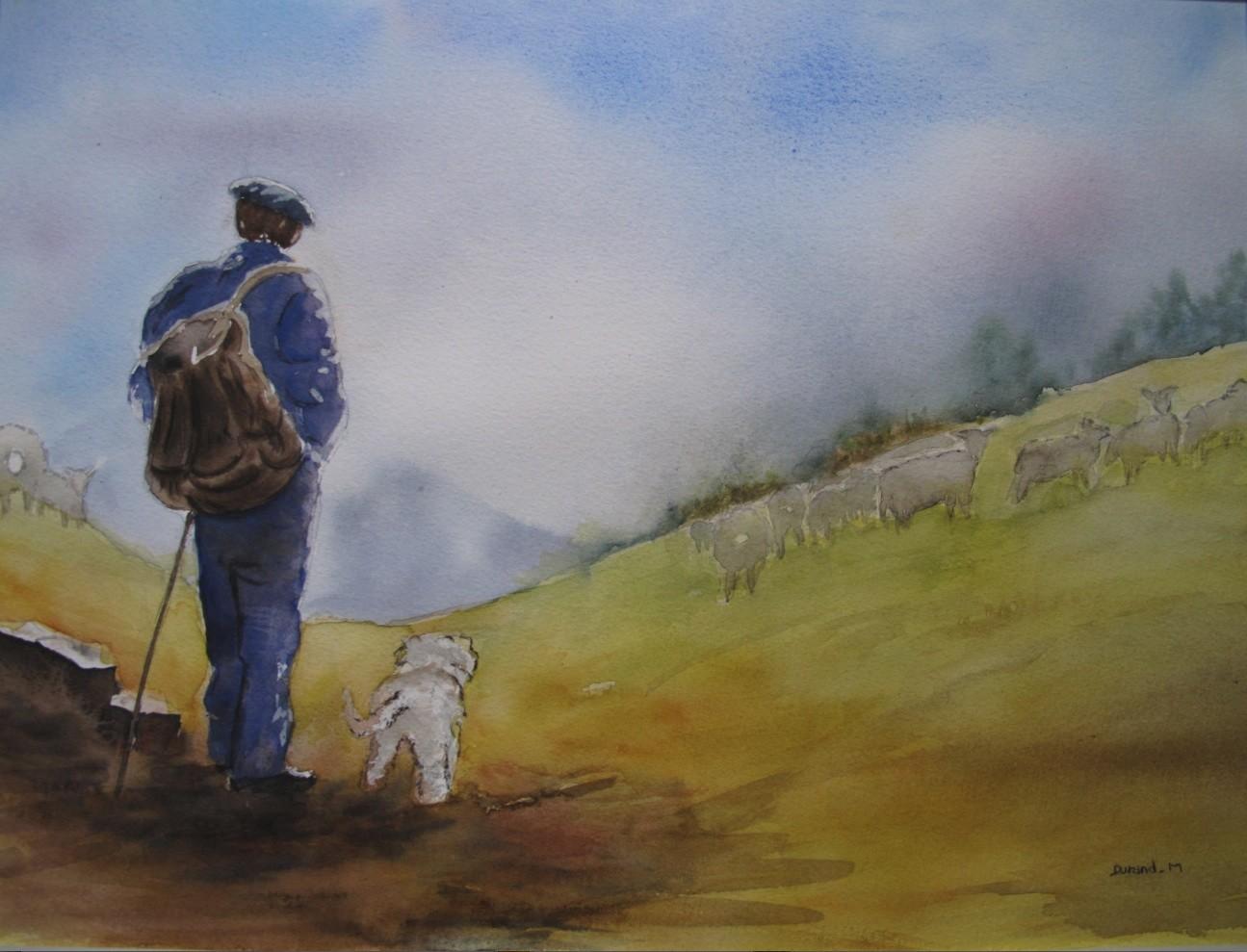 Berger et son chien