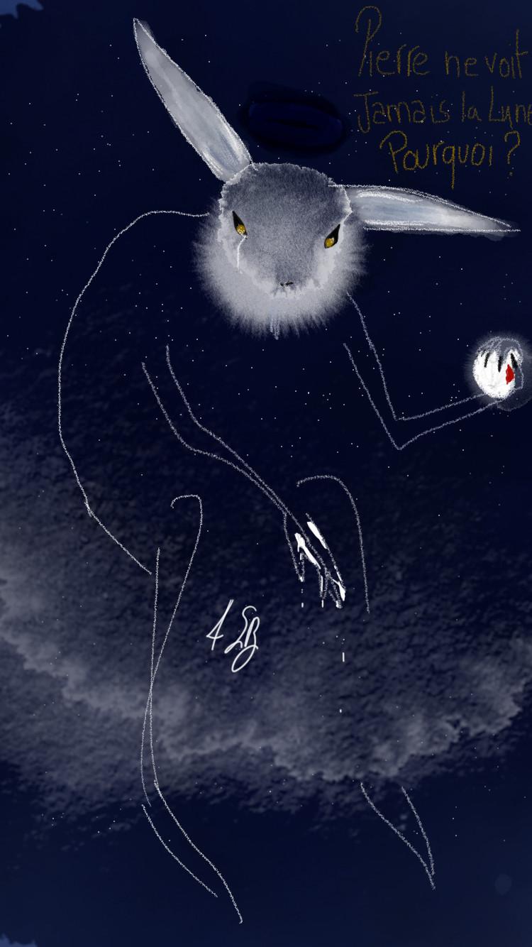 Pierre regarde chaque nuit le ciel sans nuages, mais il ne voit jamais la lune. Pourquoi ?