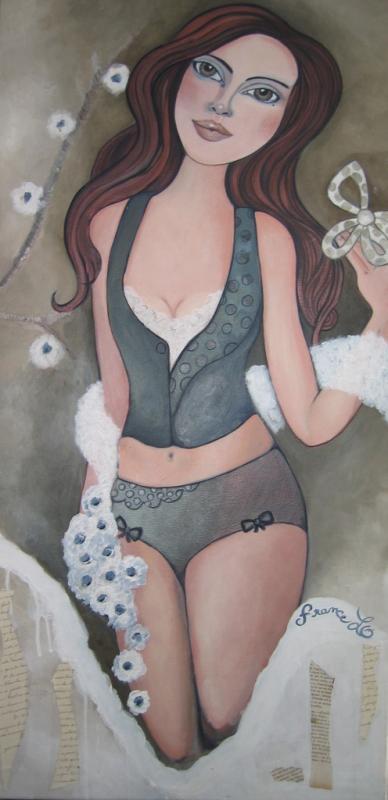 Peinture Amelice et les fleurs