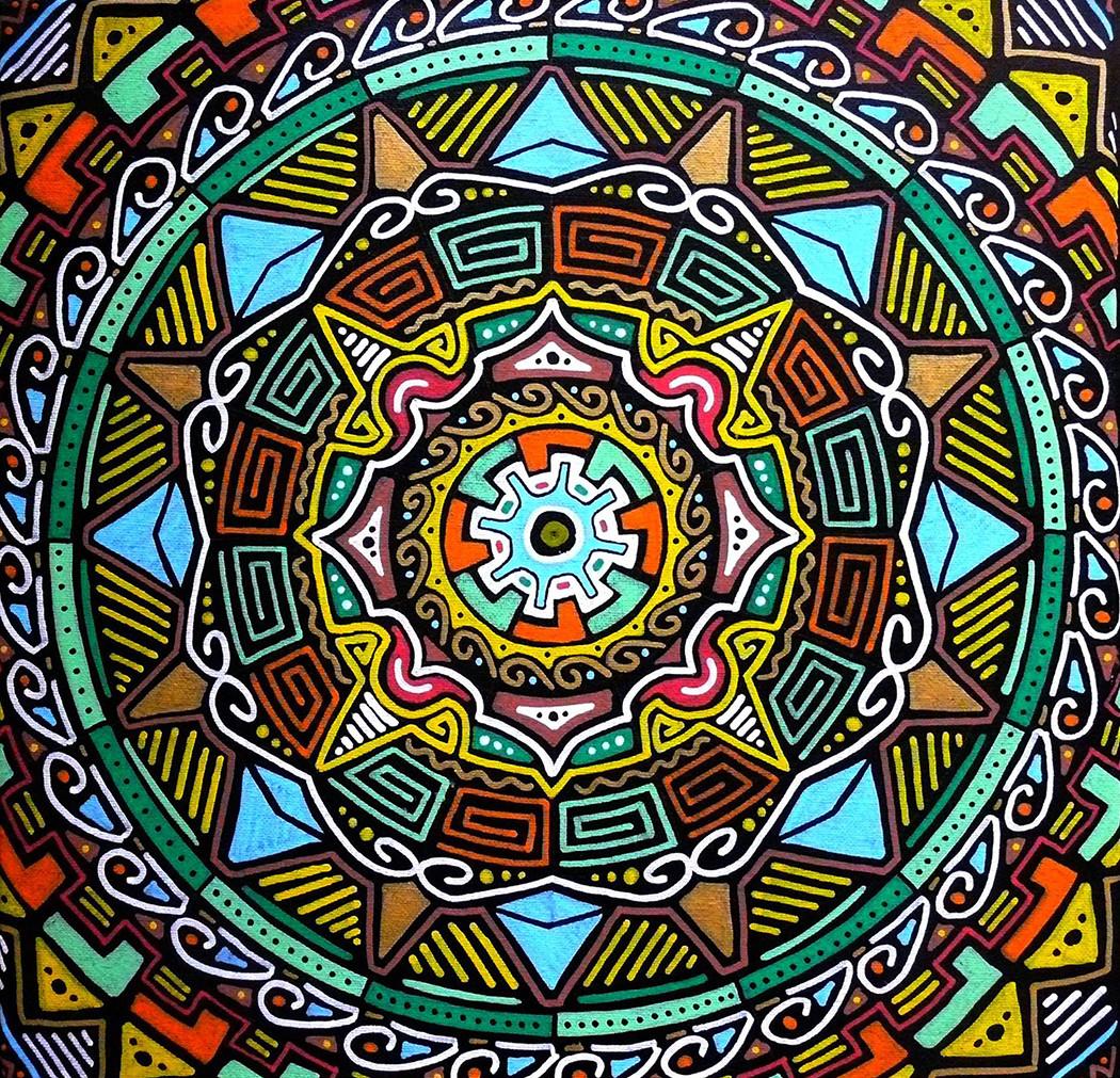 Peinture mandala acrylique sur toile - Peinture sur galet mandala ...