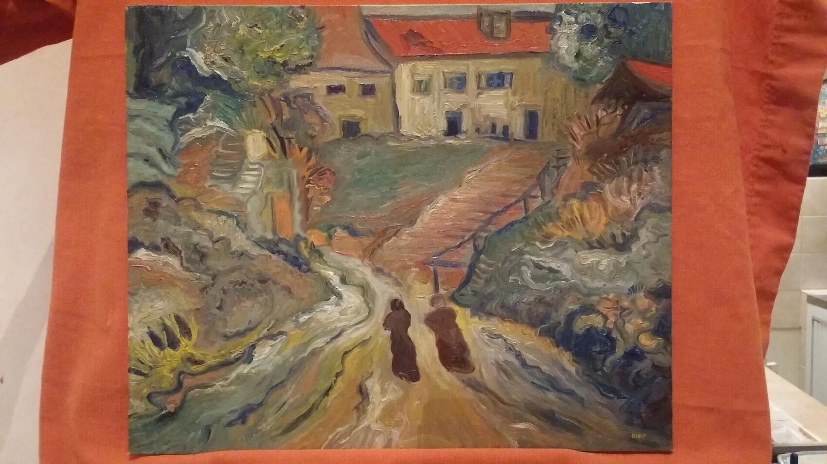 Rue d'Auvers d'après Vincent