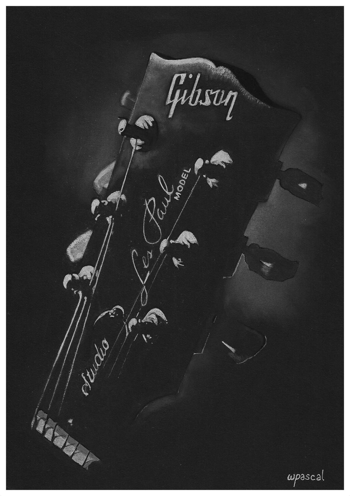 Tête de guitare Gibson Les Paul
