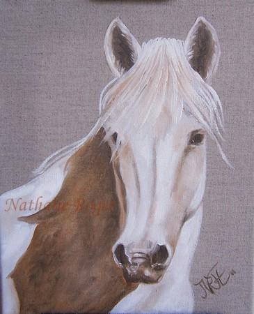 Peinture portrait de cheval peinture for Peinture sur fer a cheval
