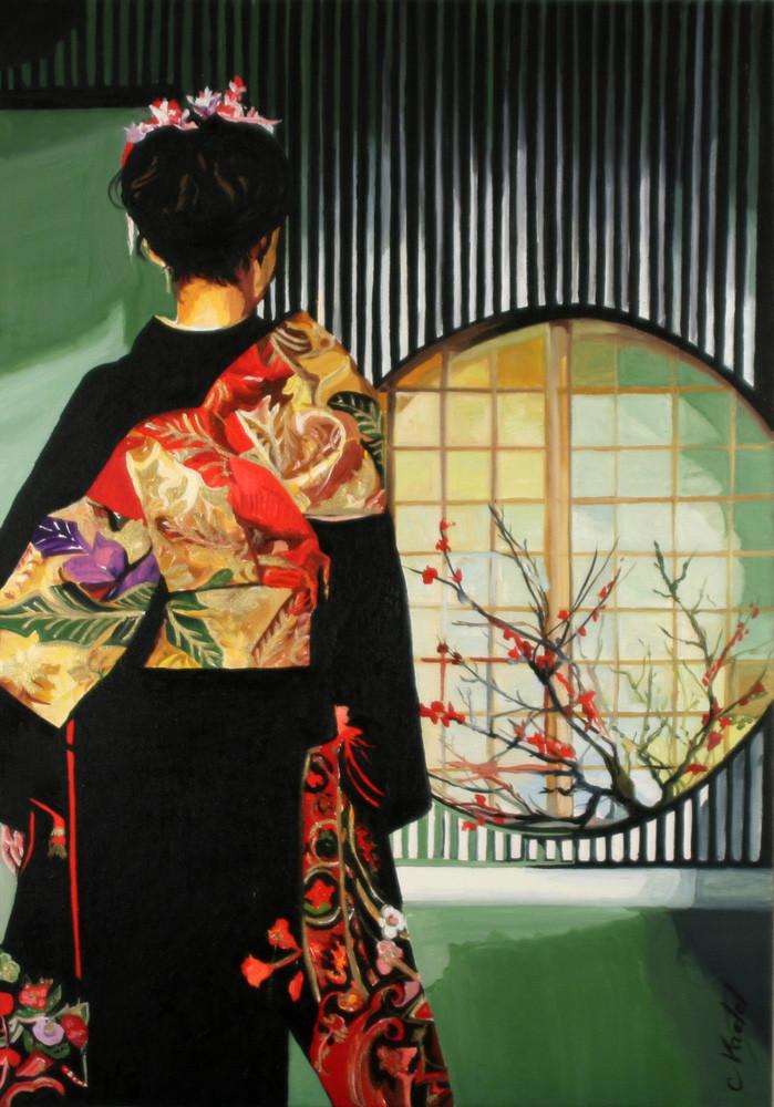 geisha a la fenetre
