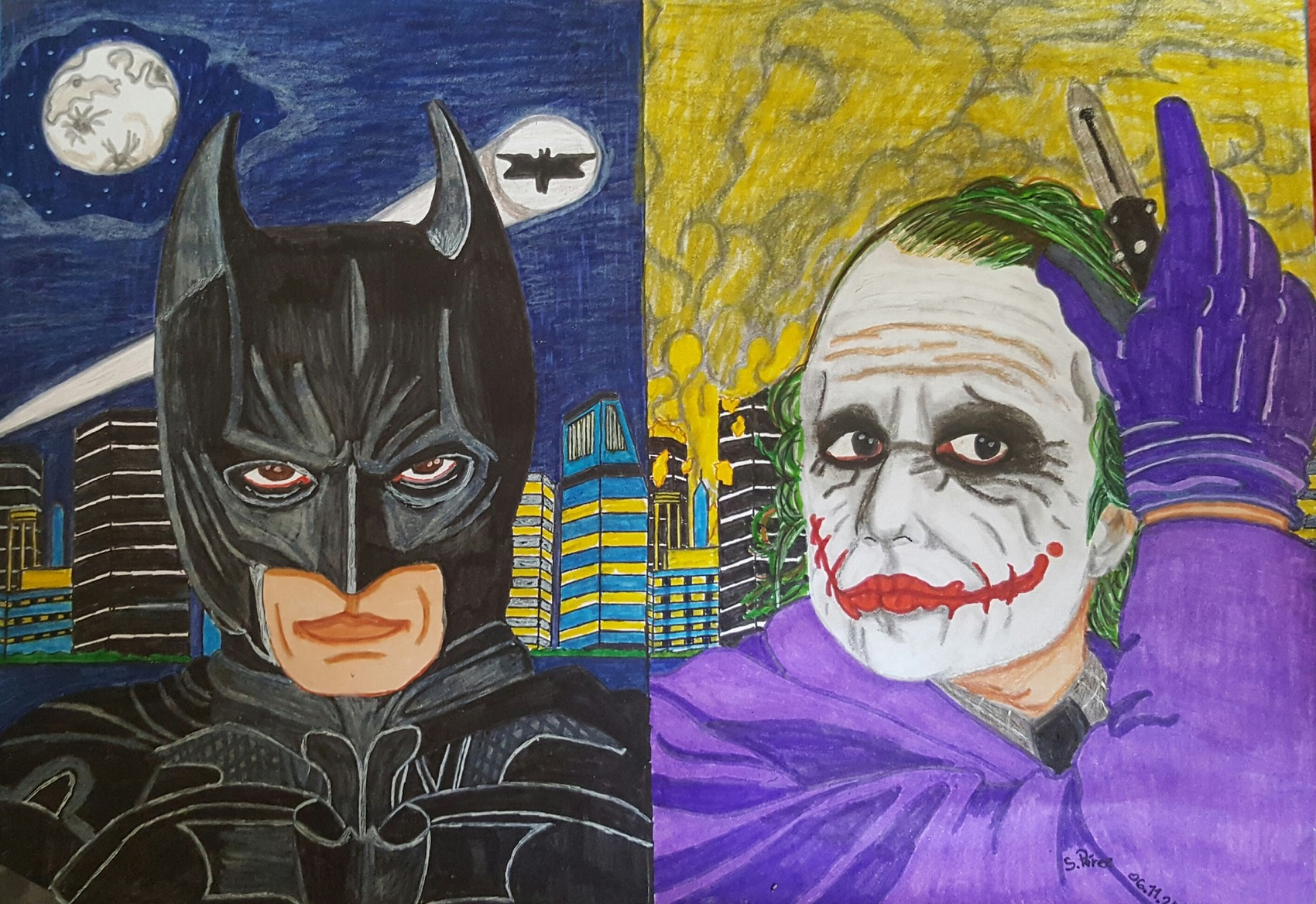 Dessin Batman Vs Joker