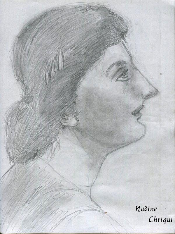 Dessin Profil Femme 2