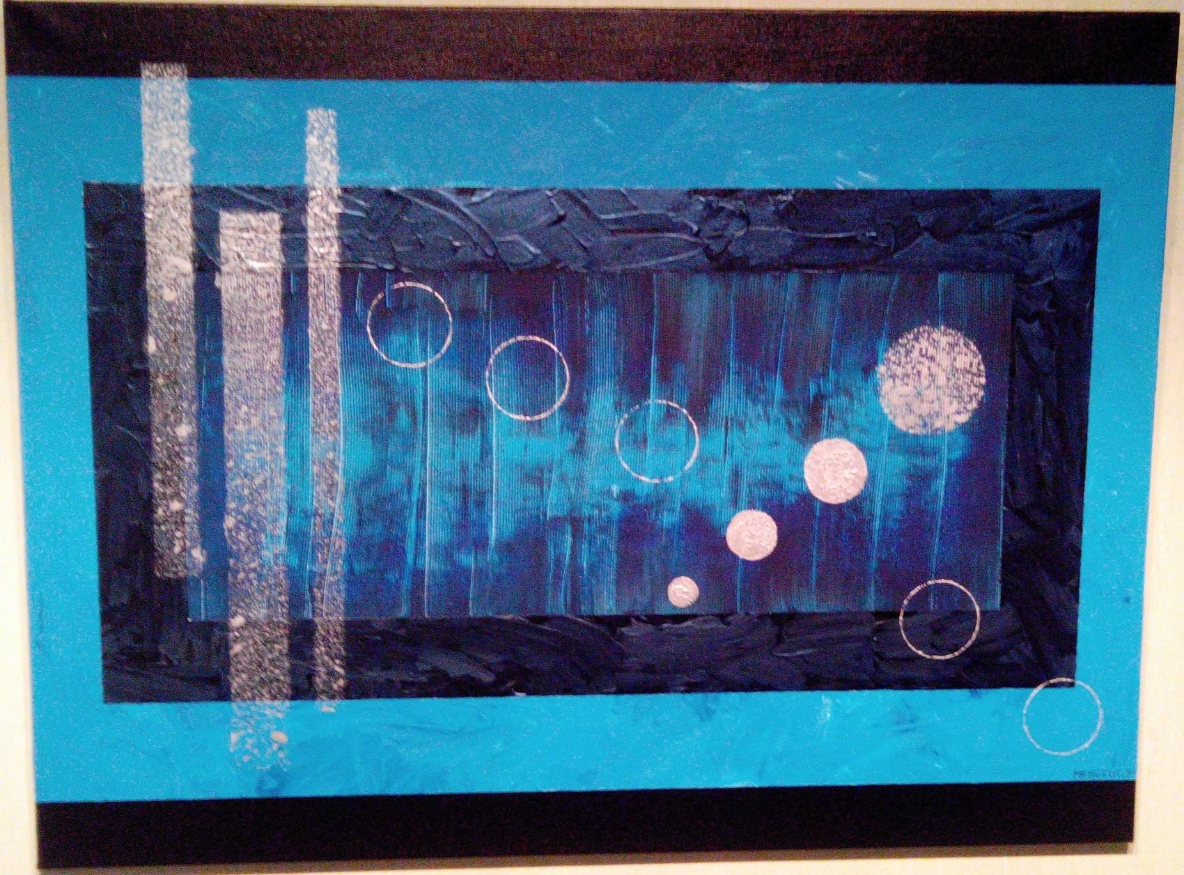 Peinture bleu de nuit for Peinture murale bleu nuit