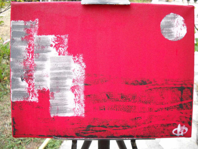 Peinture tableau peinture acrylique graphique for Peinture graphique