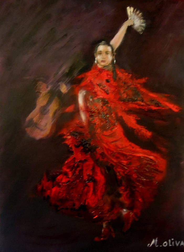Peinture flamenco danseuse - Peinture danseuse de flamenco ...