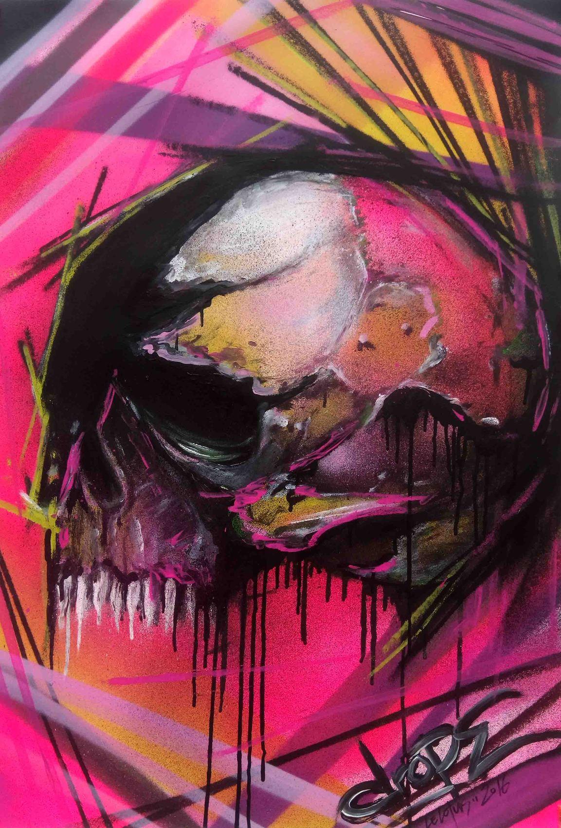 Peinture Tete De Mort Freestyle
