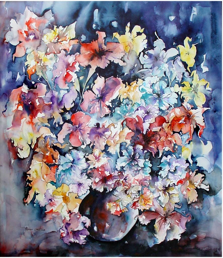 Peinture bouquet exotique for Bouquet exotique