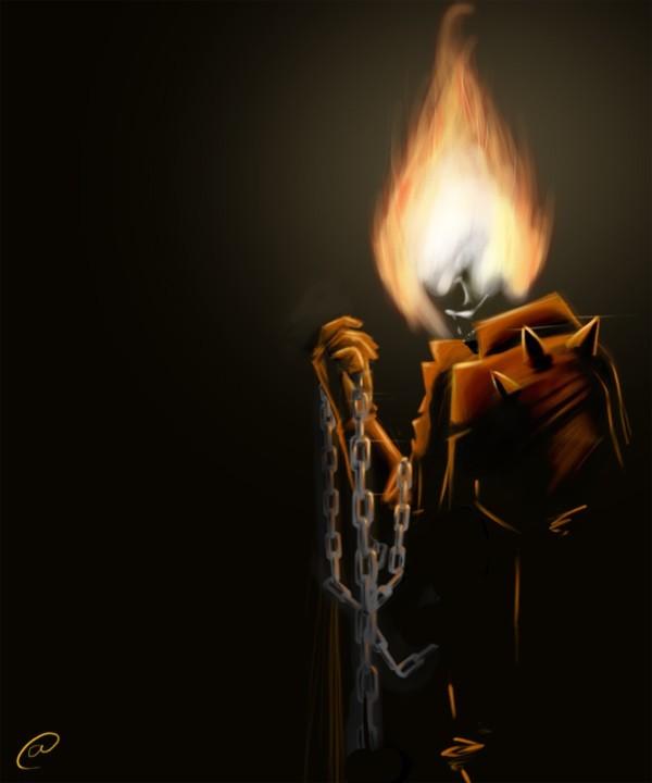 Dessin speed painting de ghost rider - Dessin de ghost rider ...