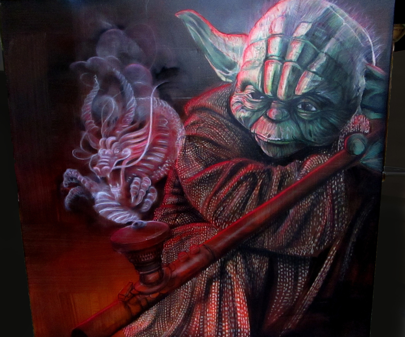 yoda chasse le dragon