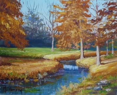 Peinture Paysage d'automne