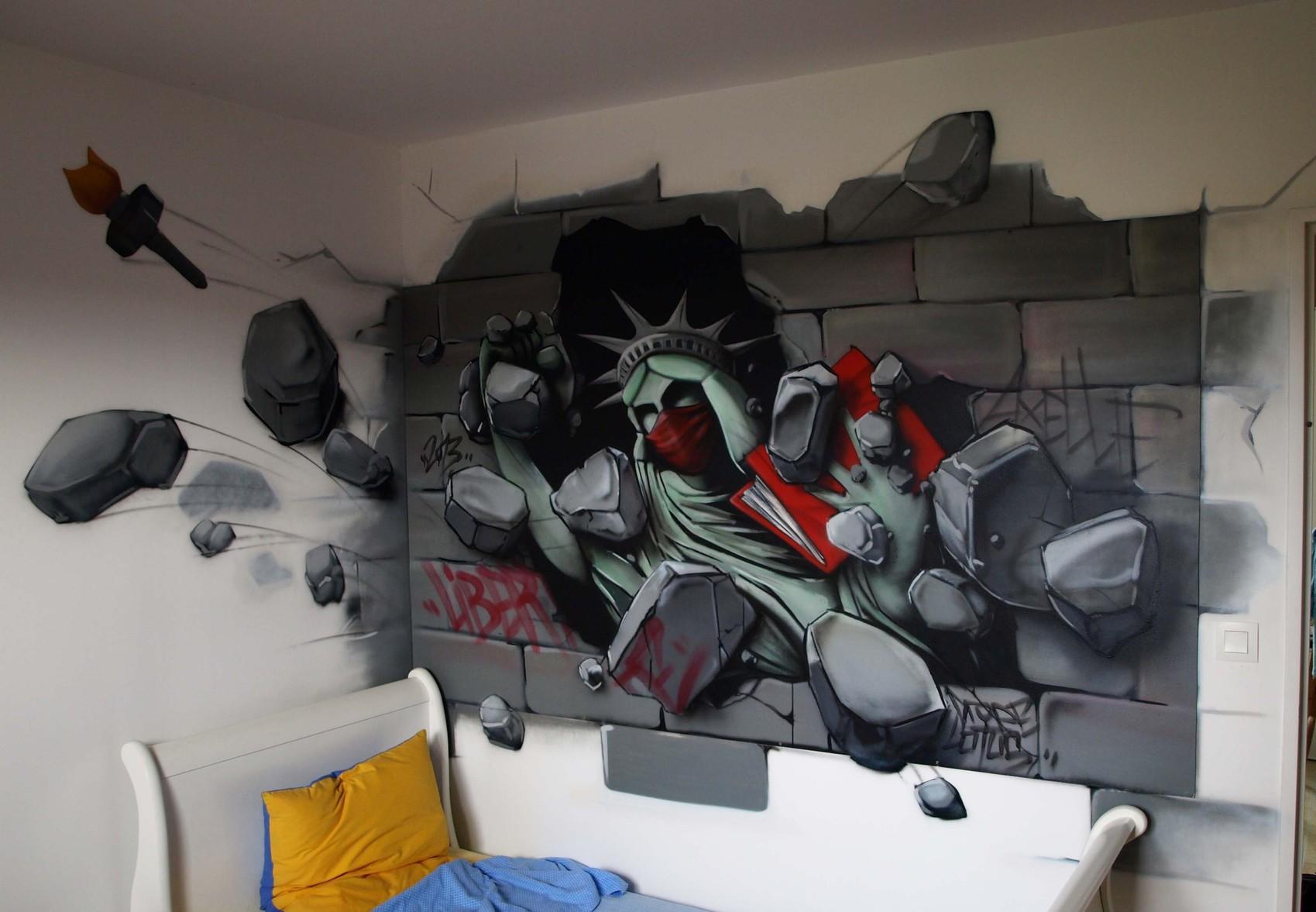 Autre Peinture Dans La Chambre D 39 Axelle