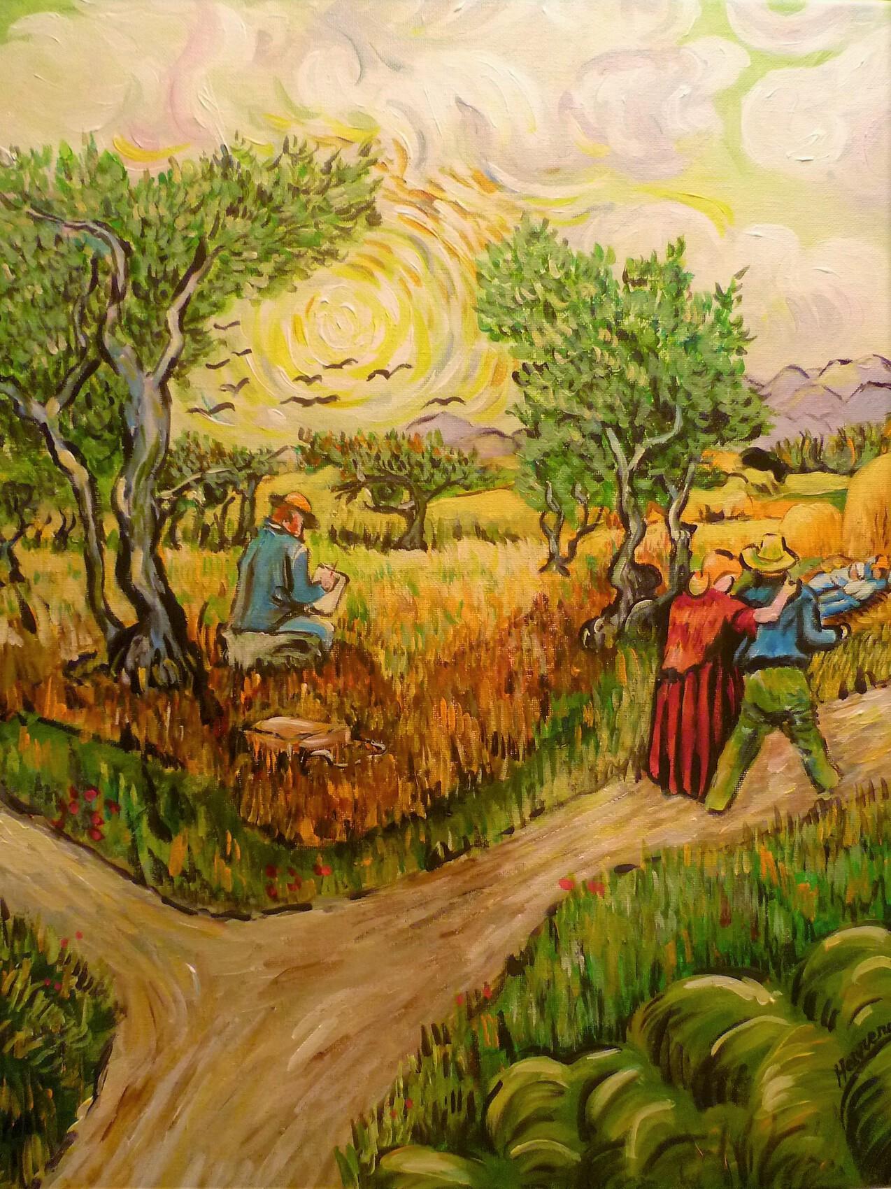 le peintre sous l'olivier