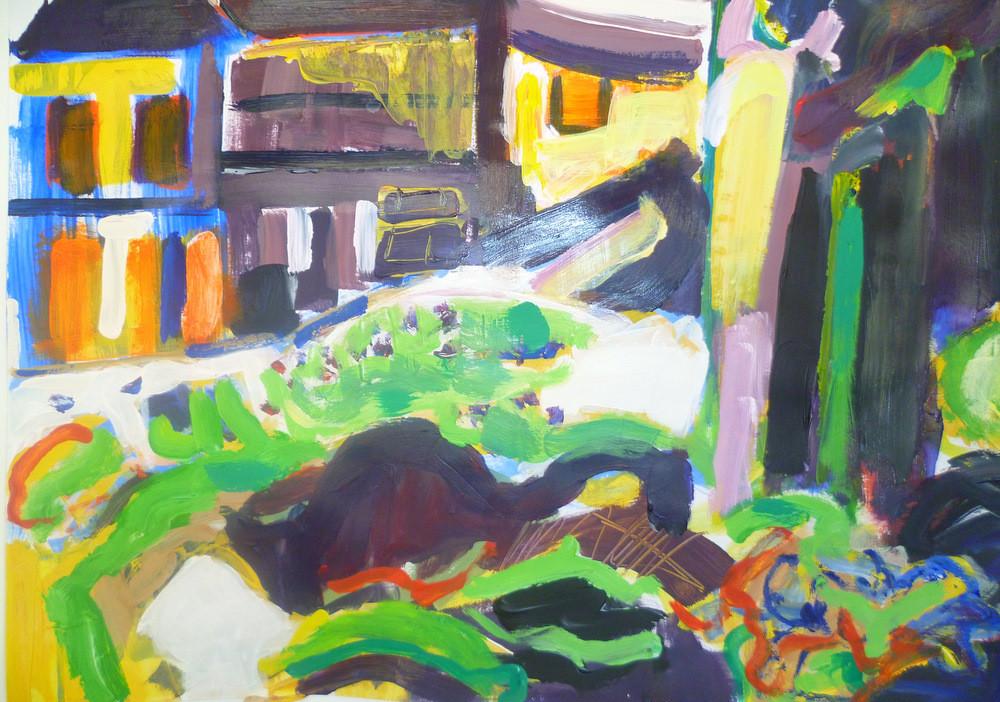 Peinture cherche maison for Cherche maison