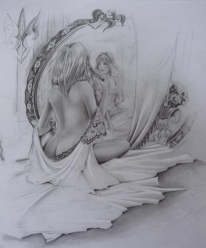 Orgasme devant le miroir