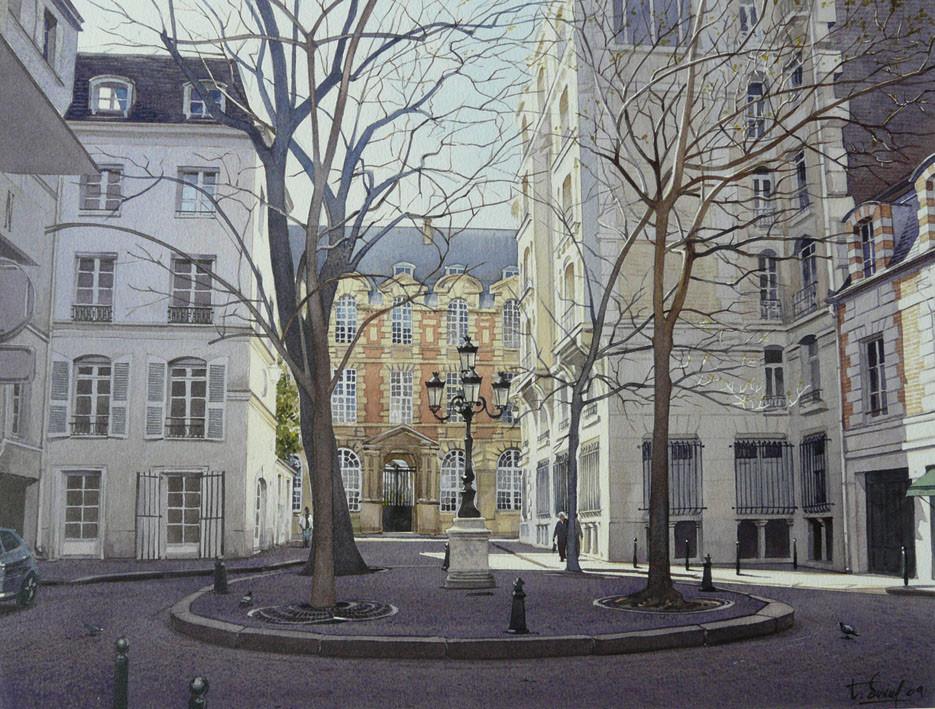 Peinture La place de Furstenberg