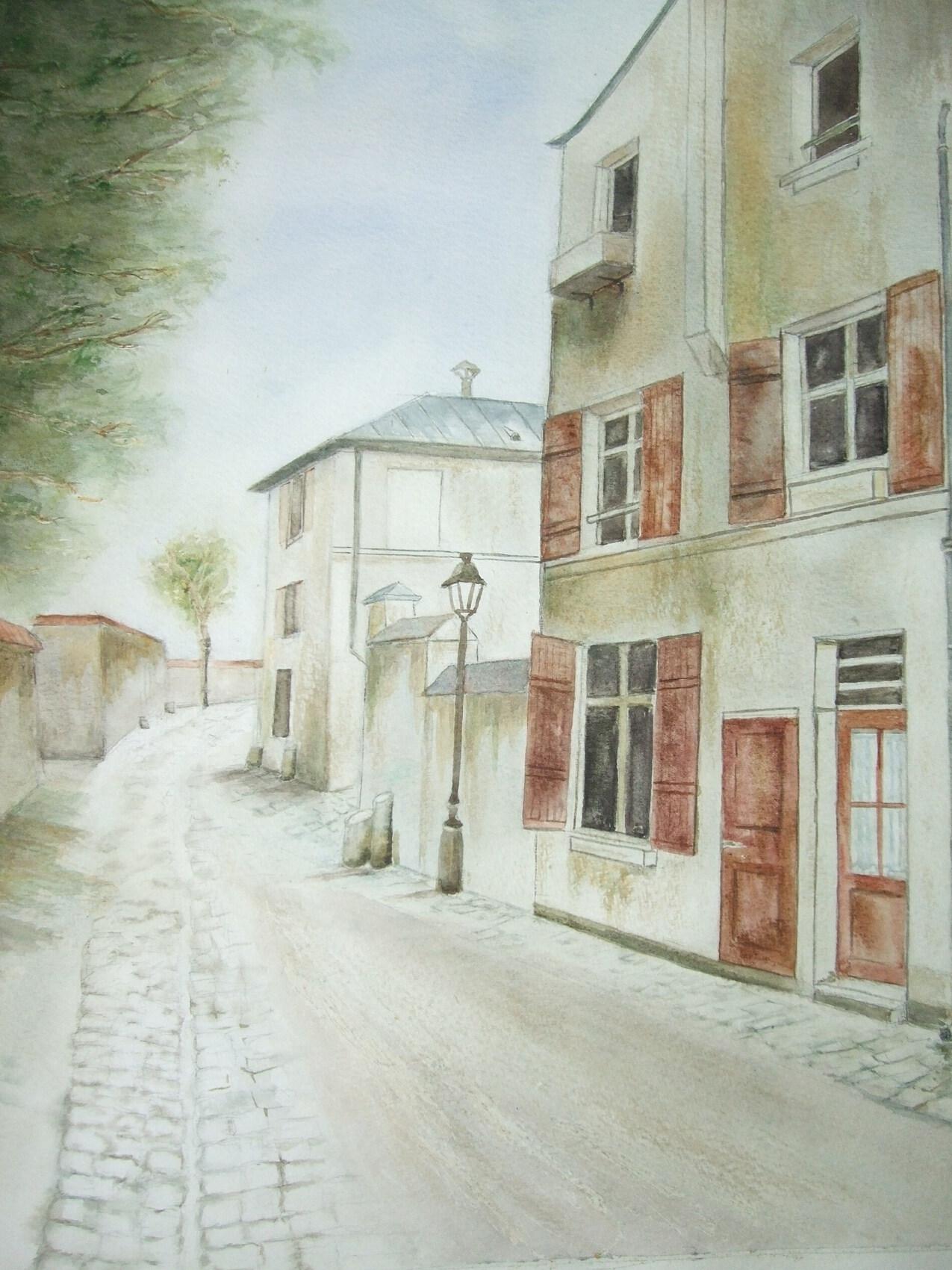 La rue Berton à Paris