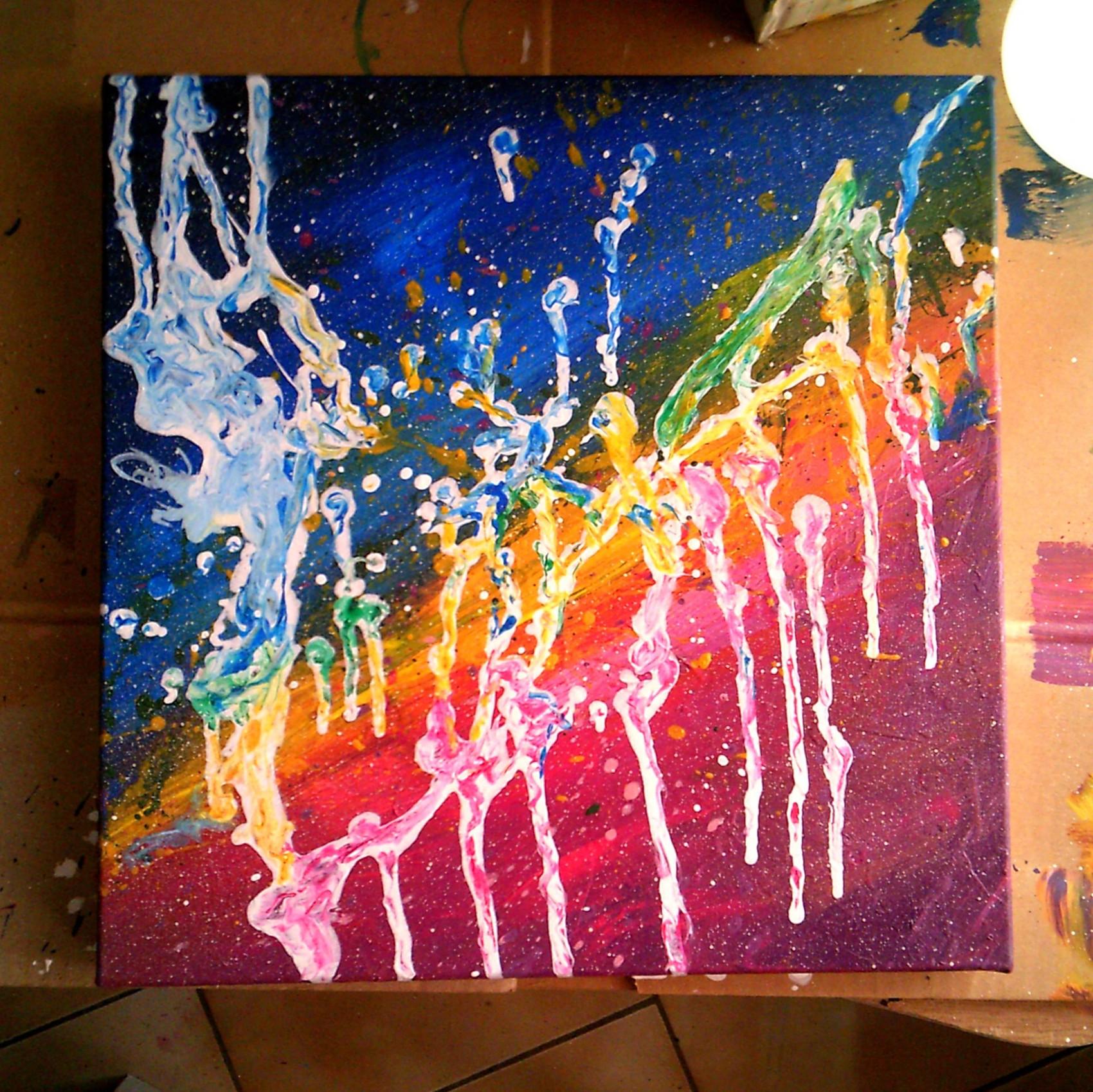 """Bonjour à tous :) je suis fière de vous présentez ma toile """" Aurore boréal 1""""."""