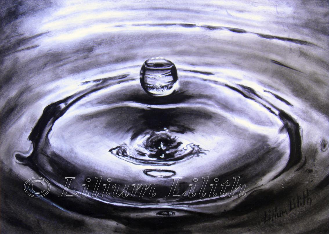 Peinture Dessin à l'huile: Goutte d'eau