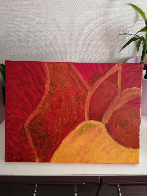 kaléidoscope rouge orange jaune