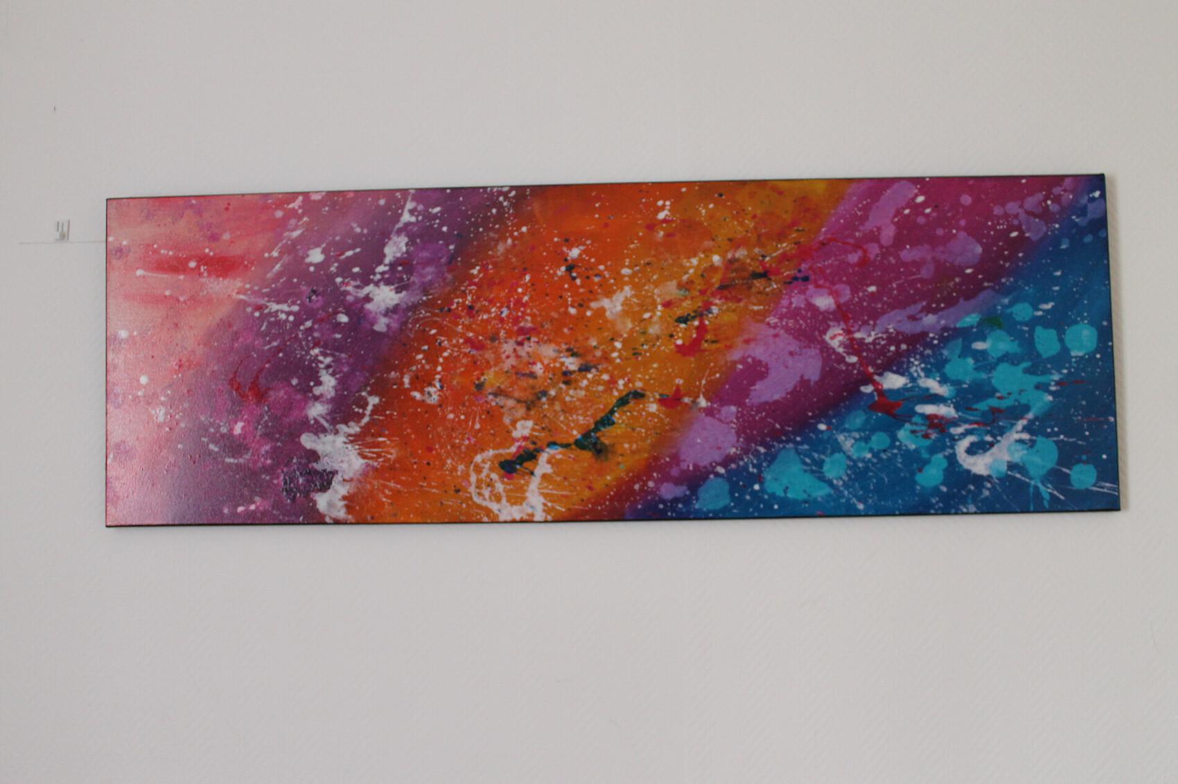 peinture moderne à la peinture acrylique pour la décoration, peinture d'art contemporain sur toile
