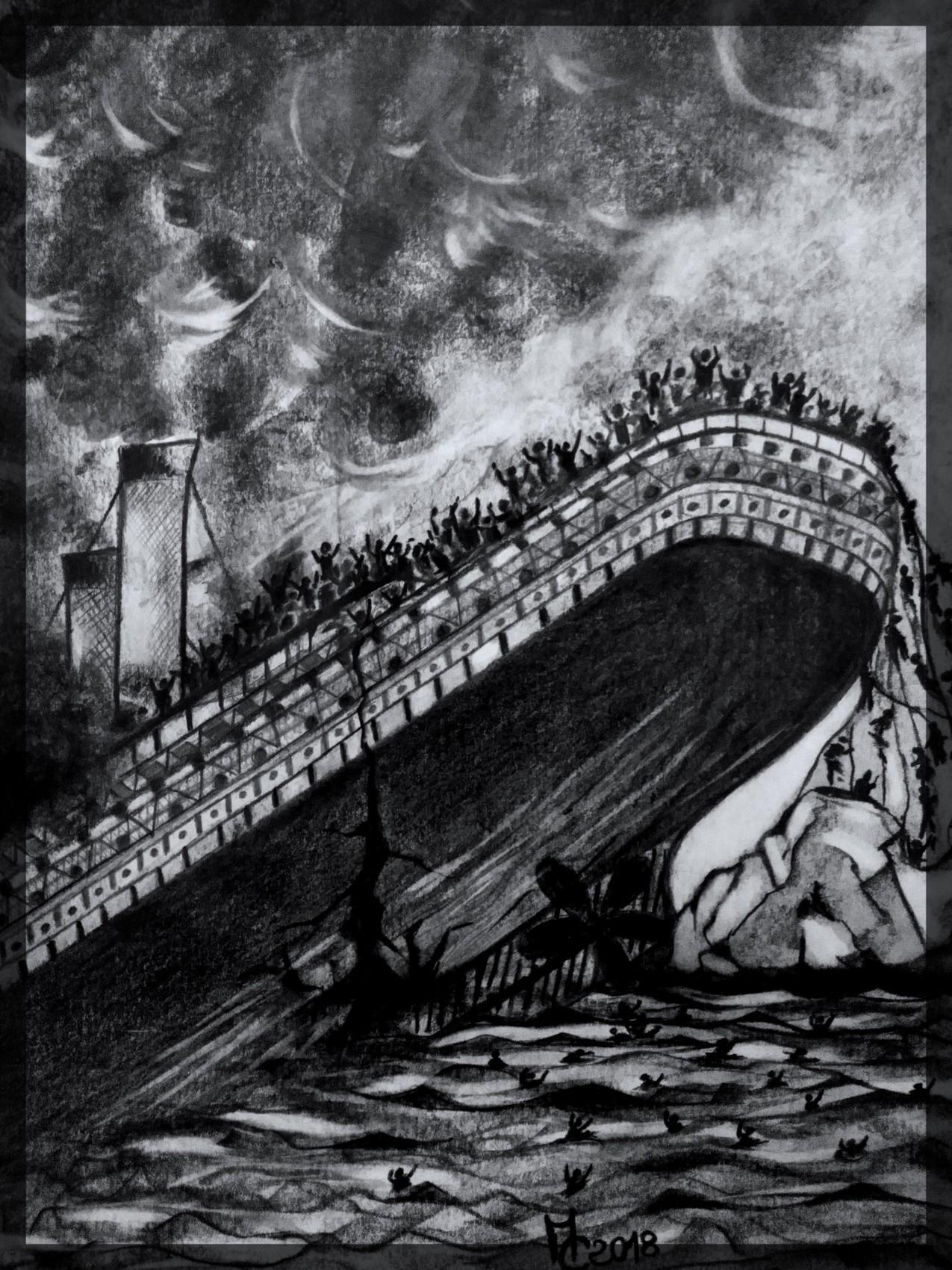 Dessin Naufrage Du Titanic 2