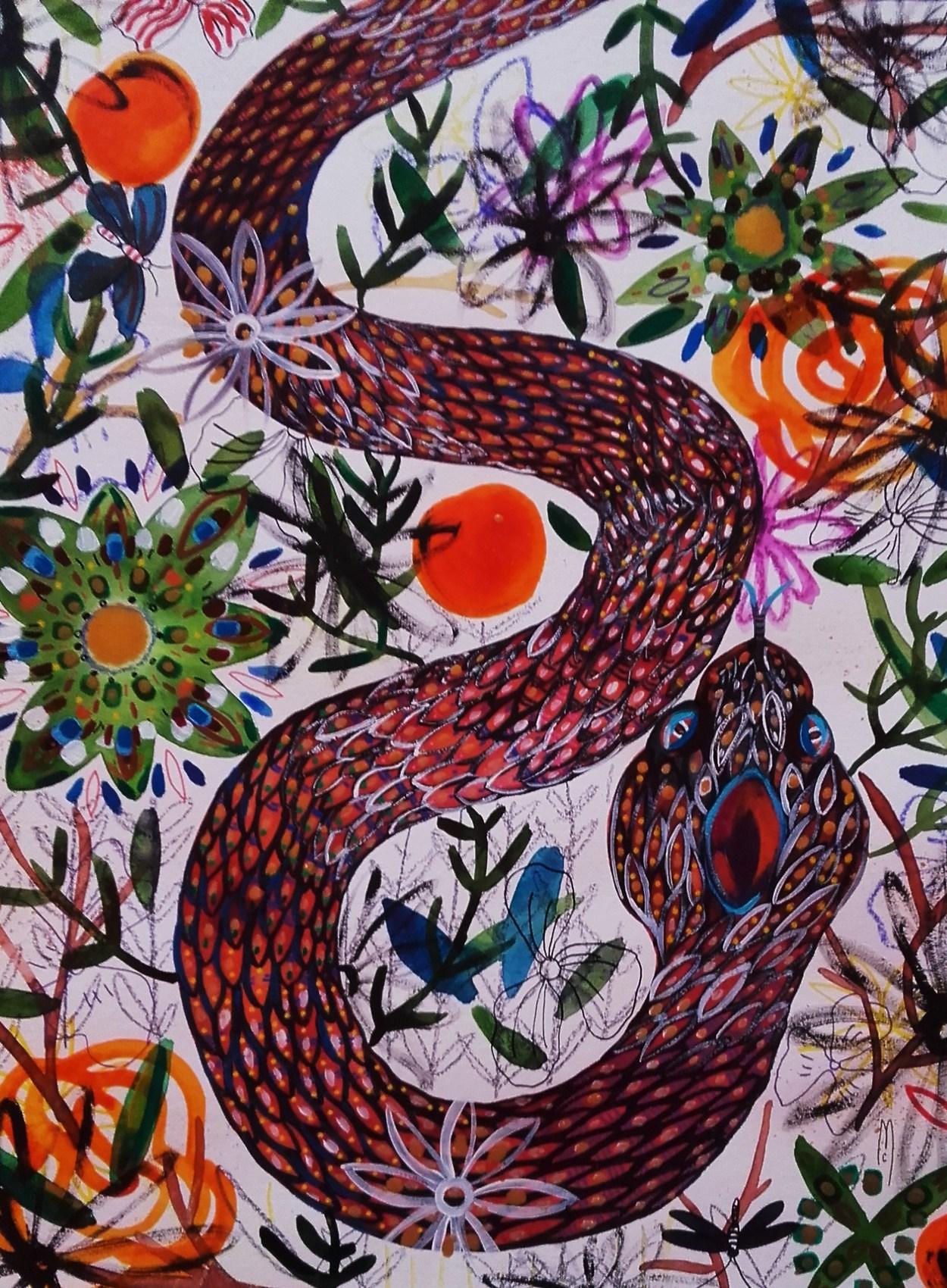 Peinture serpent - Peinture effet serpent ...