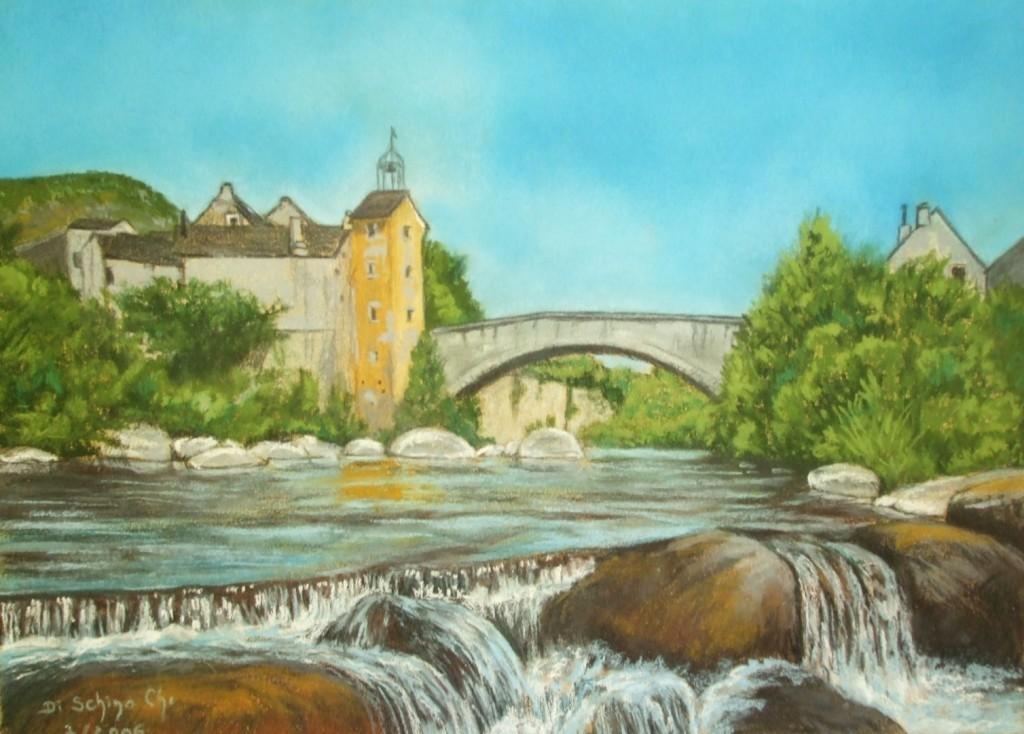 Le pont de Monvert (50x40)