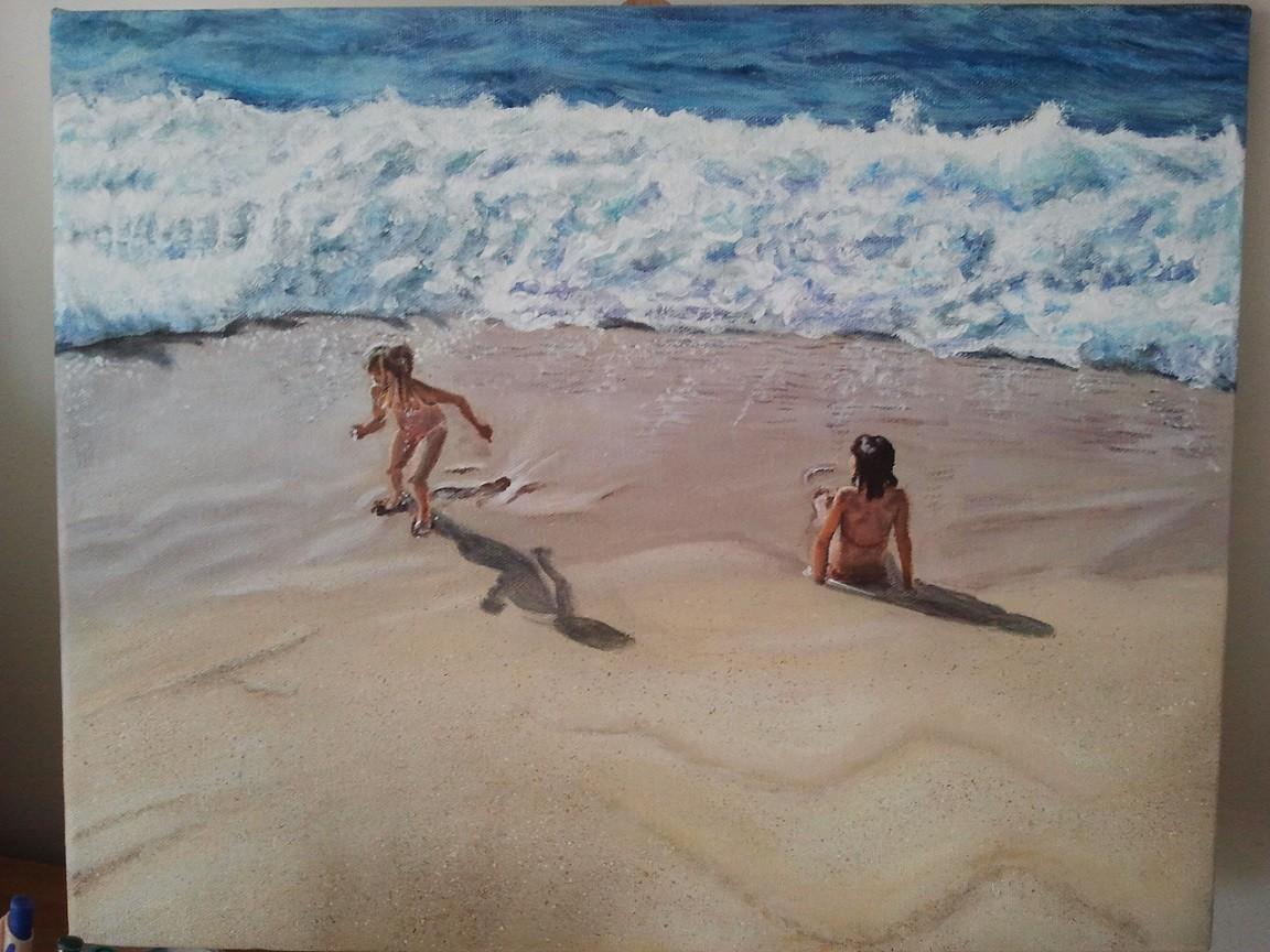 Fillettes à la plage