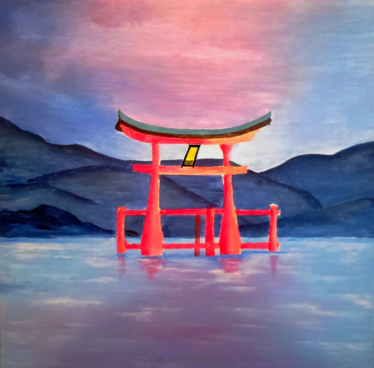 Torii flottant du Japon
